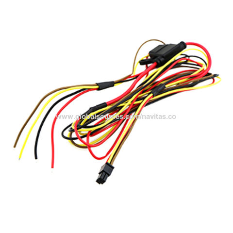 B1162502493 taiwan 4 pin overmolded molex fuse holder wire harness from trading