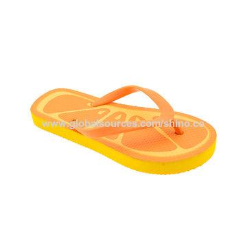 b29b293fda4f ... China Wholesale children unisex customized fruit shape flip flops with  PE outsole ...
