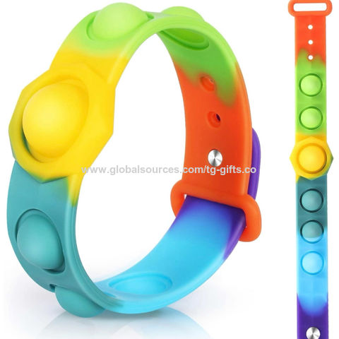 China Push Bubble Sensory Fidget Bracelet Toy,Pop it Fidget Silicone  Wristbands, pop bracelet on Global Sources,Wearable Sensory Wristband  Toys,Silicone Bubble Bracelet Toy,Fidget Toy Bracelet