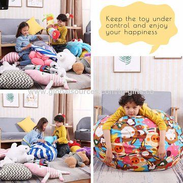 Brilliant Stuffed Animal Storage Bean Bag Chair Squirreltailoven Fun Painted Chair Ideas Images Squirreltailovenorg
