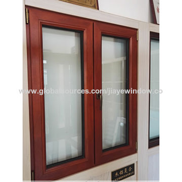 China Factory Design Aluminum Clad Wood Window From Qingdao