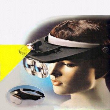 hong kong sar lenses magnifier headset led light lamp head band set lighted magnifying glass 4x