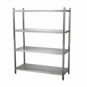 China 1.6-meter Stainless steel 4-layer shelves/adjustable feet