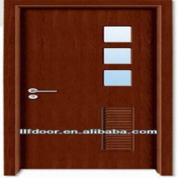 ... China Fancy Wood Room Glass Door Design