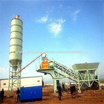 China Mobile concrete batching plant, 60m3/h portable