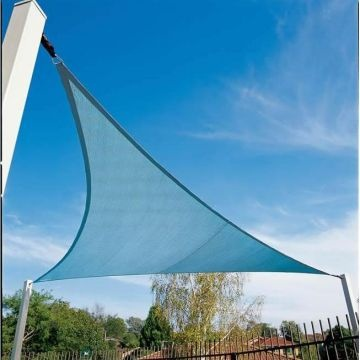 Hdpe New Green And Beige Triangle Sun Shade Sails All Sizes With Uv