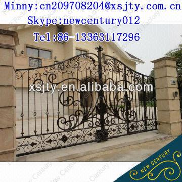 European Style Wrought Iron Gate Fence Design And Manufacturer