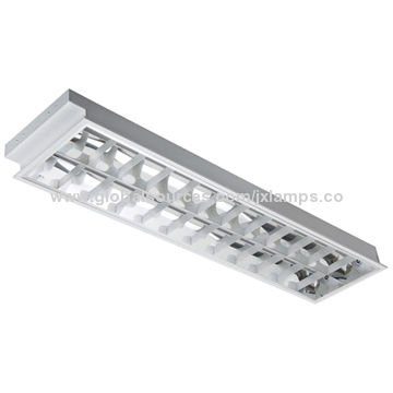 2*36W Recessed Luminaries with T8 Fluorescent lamp and Aluminum Grid ...