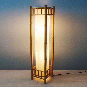 Lámparas de pie, iluminación casera, artes de bambú/muebles ...