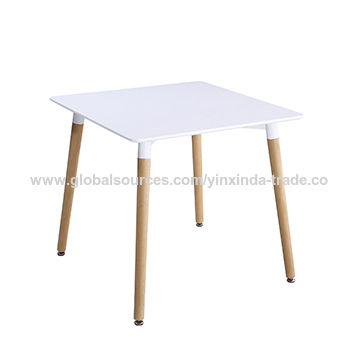 China Square Dining Table Dining Room Tables With White Painting Solid Wood Legs On Global Sources