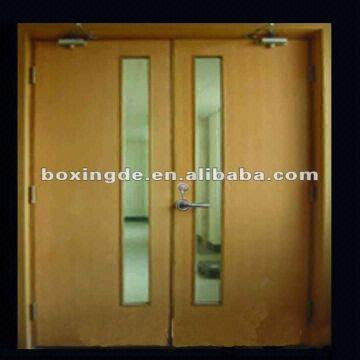 Timber Anti-fire Door,fire Proof Door with Vertical Glass,fire ...