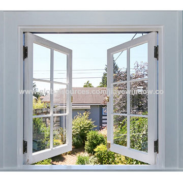 China Outward Opening White Color Pvc Cat Window Upvc