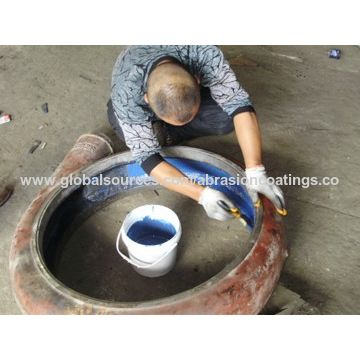 Powder selector epoxy ceramic adhesive, brush application, wear resistant, high bonding strength