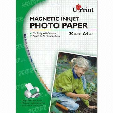 magnetic inkjet photo paper ideal for business cards and signs