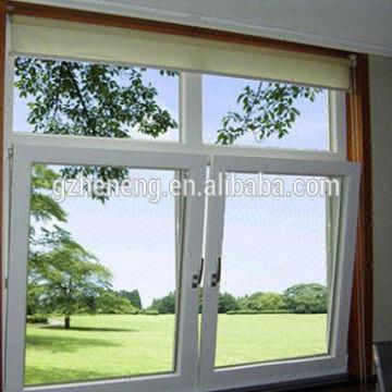 White pvc windows PVC Awning window double glass windows Middle hung