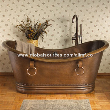 Copper Bathtub with Handles, Antique Finish | Global Sources