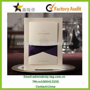 Wedding invitation card 1300gsm ivory card 2 18x11cmfold size china wedding invitation card 1300gsm ivory card 2 18x11cmfold size 9x11cm 3 stopboris Images