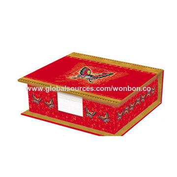 china memo pad with cardboard box 95x95cm 650 sheets wood free