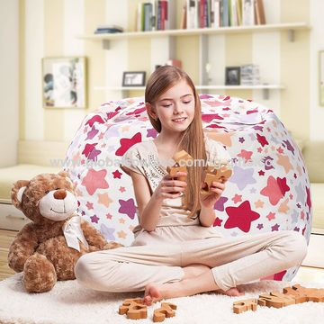 Astounding Stuffed Animal Storage Bean Bag Chair Squirreltailoven Fun Painted Chair Ideas Images Squirreltailovenorg