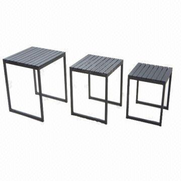 Outdoor Furniture Polywood Side Table Set Of Global Sources - Polywood coffee table