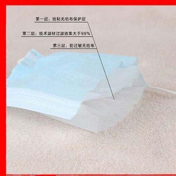3 ply non-woven nose mask filter glass-free filter | Global Sources
