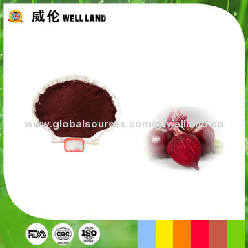 Natural 10-20E beta vulgaris root extract beet red food color dye ...