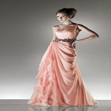 Long One Shoulder Formal Gown Low Price High Quality Factrory