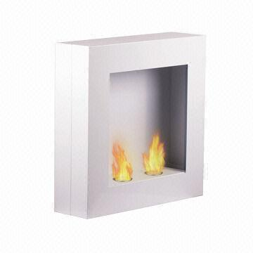 Wall Mounted Gel Fuel Fireplace With 2 X 304ss Fuel Cups Double