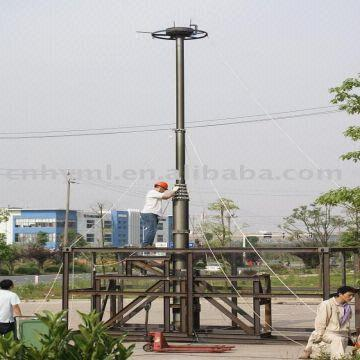 high mobile telecommunication tower and mast pole,pneumatic