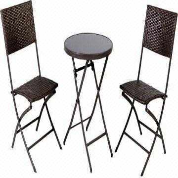 Awe Inspiring Outdoor Furniture Wicker Bistro Set Folding Chair Table Onthecornerstone Fun Painted Chair Ideas Images Onthecornerstoneorg