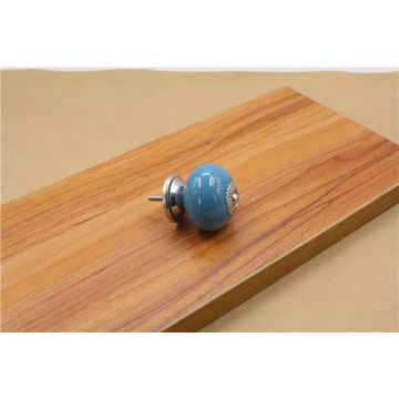 ... China Colorful Ceramic Cabinet Knobs With Chrome Plated Finish ...