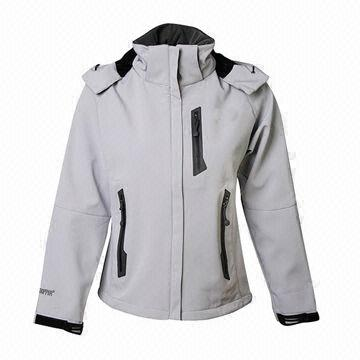 29de90629 China Women's Softshell Jacket in Plain White with Detachable Hood, Sealed  Pocket and Waterproof Zippers ...