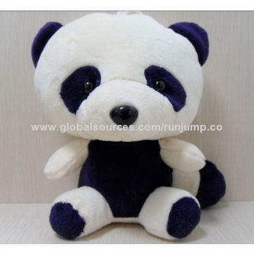 stuffed plush animal panda bear baby toy, made of soft plush and PP padding, suitable for promotions