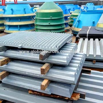Jaw crusher parts, jaw liners, jaw dies, fixed jaw plate