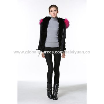 New stylish girls' winter coats, customized sizes and colors are accepted