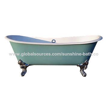 ... China Double End Enamel Cast Iron Bathtub