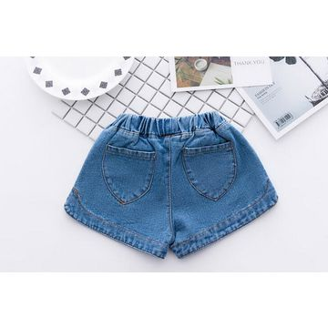 6bab422d11 ... China Girls' denim shorts made of pure cotton, stock and OEM/ODM  welcomed ...