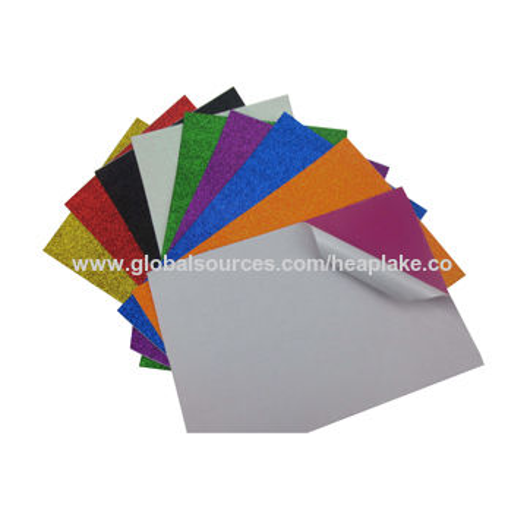 China Wholesale 2mm Thickness Shining Colorful Adhesive Glitter Eva ...