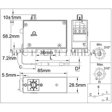 Types KO-V Single Pole Control Thermostat