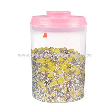 Quick Open Button 1500mL Airtight Plastic Food Storage Container