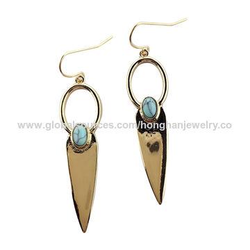 Metal alloy earrings | Global Sources