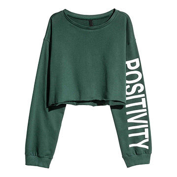 e64f3b6f7bb China Custom Print Logo Long Sleeves Women Crop Top Hoodie Sweatshirt ...