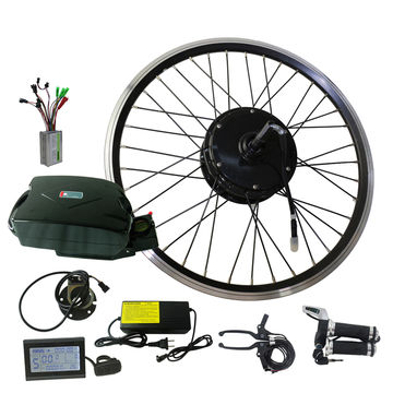"China 36V lithium battery 26"" motor wheel e-bike conversion kit"