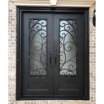 Single Iron Door Interior Wine Cellar Doors Design Wrought Iron French Doors
