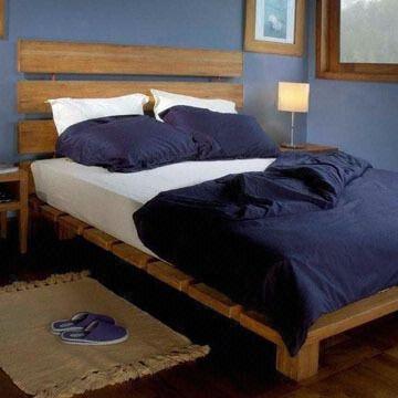 Bed 210 160.Bed Teak Sliced Veneer Measuring 210 X 160 X 24cm Or Sizes Upon