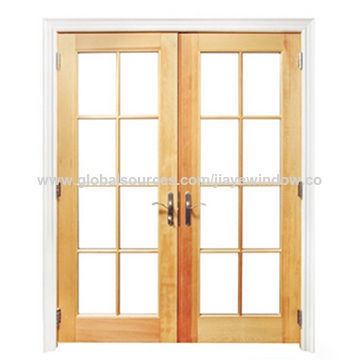 China Low Cost Aluminum Clad Wood Casement Windows From Qingdao