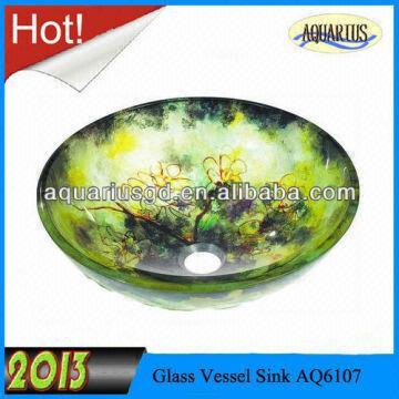 1  Kohler style glass hand painted kohler sinks 2  High