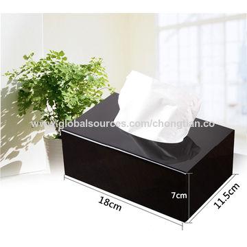 China Black Acrylic Tissue Box Cover