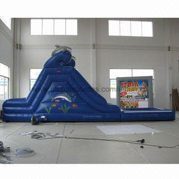 Inflatable Water Slide with Dolphin   Global Sources