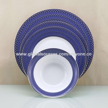 Decal Printed Bright Colour Dinnerware Sets